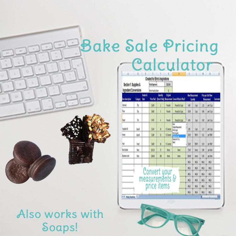 bake sale pricing desktop