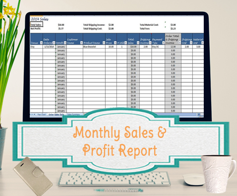 Sales ...  Monthly Sales Report Spreadsheet