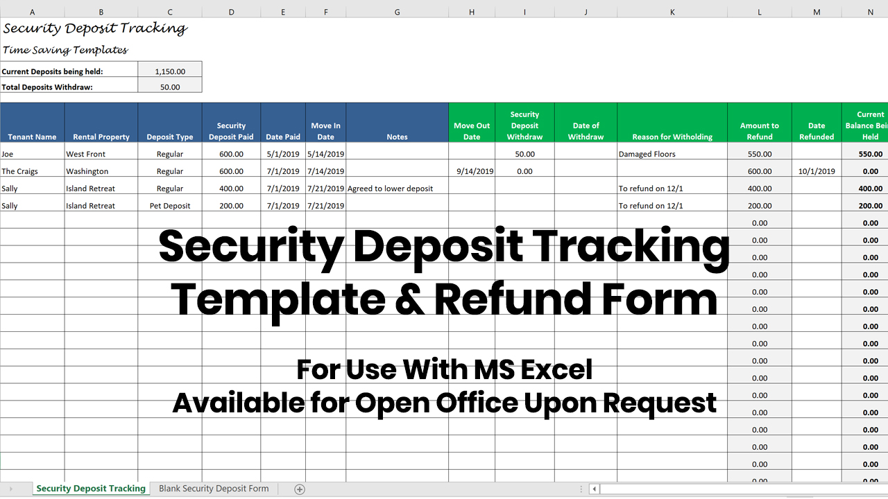 Security Deposit Tracking – Title