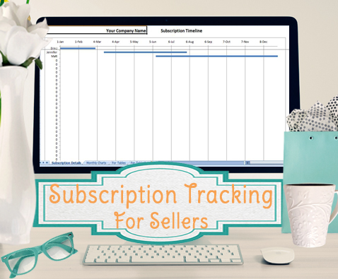 subscription tracker template for sellers product of the month club tracking. Black Bedroom Furniture Sets. Home Design Ideas