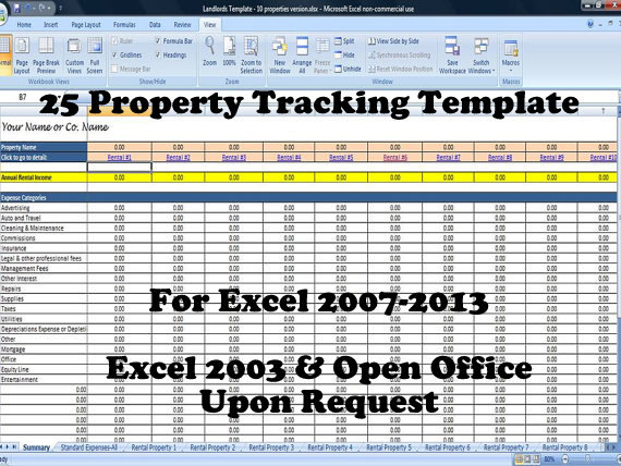 rental property spreadsheet template for 25 properties business. Black Bedroom Furniture Sets. Home Design Ideas