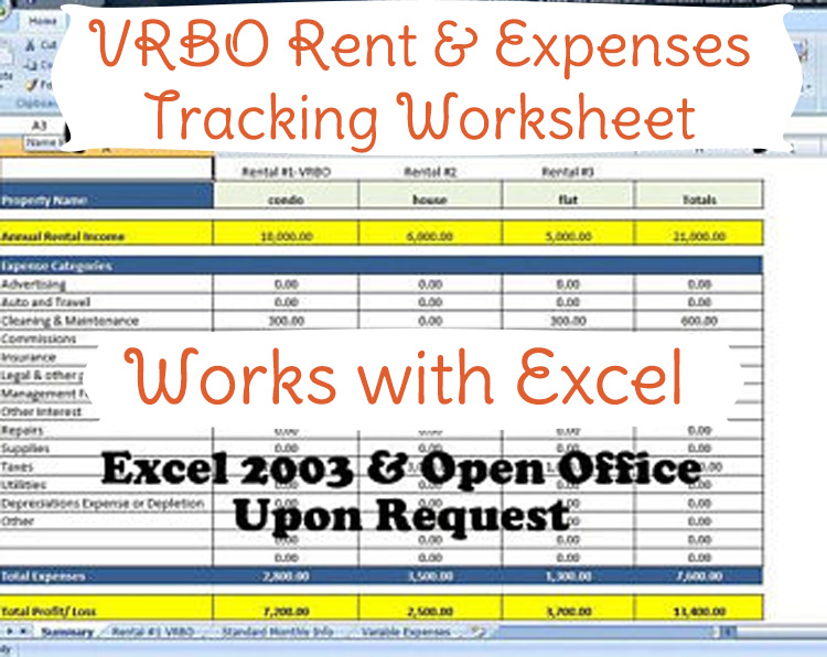 airbnb bookkeeping  airbnb excel template