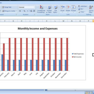 Budget Chart Template, Personal Expense Tracker Spreadsheet