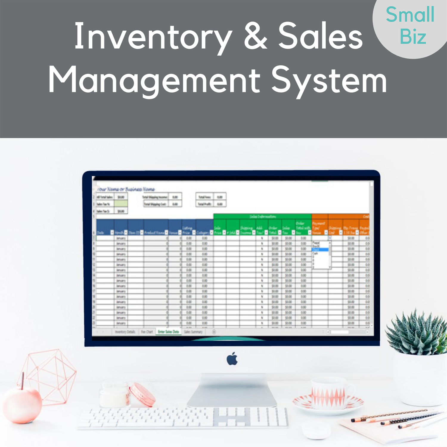 inventory and sales management template-w