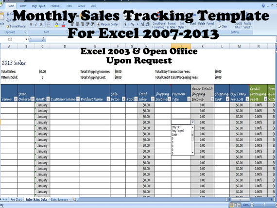 Simple sales summary template excel for Excel shipping tracking template