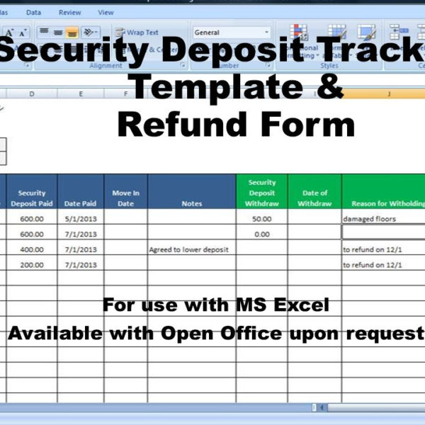 Rent deposit return letter and tracking security deposit deductions rental deposit tracking form landlord tenant security deposit agreement rent deposit return tracking altavistaventures Choice Image
