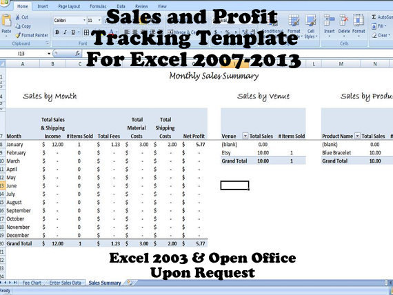 Sales And Profit Tracking Template   For Multiple Venues  Profit Template