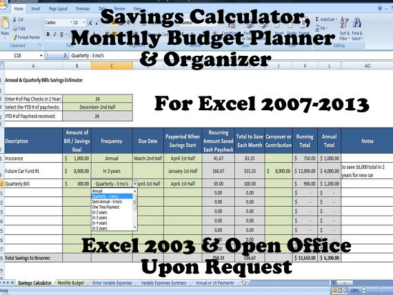 savings goal calculator excel  simple target savings