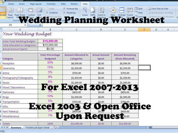 Wedding Budget Template by Expense
