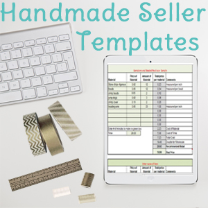 Handmade Seller Worksheets
