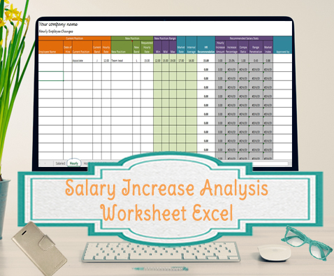 Salary Increase Template Excel, Compensation Metrics Calculations