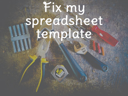 Fix my spreadsheet- tools