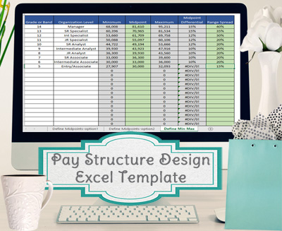 Pay Structure Design Template, Range Spread and Midpoint ...