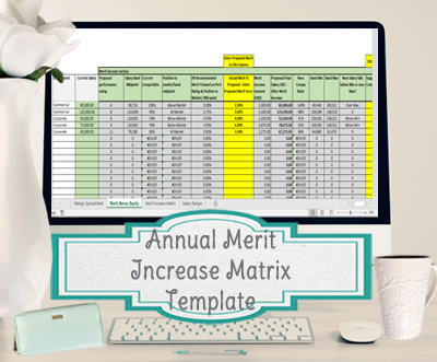 Annual Merit Increase Matrix Excel Template For Compensation