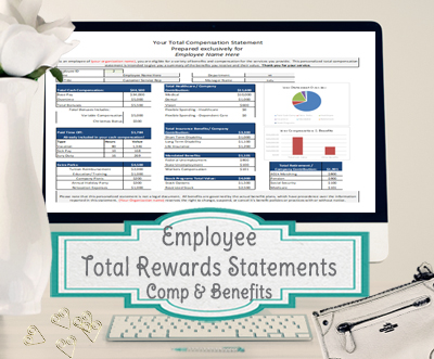 Employee total rewards statement total compensation statement employee total rewards statement total compensation statement template excel maxwellsz