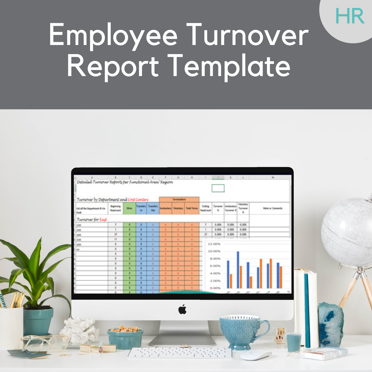 employee turnover report template-w