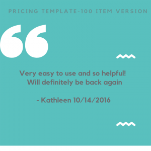Price template review1
