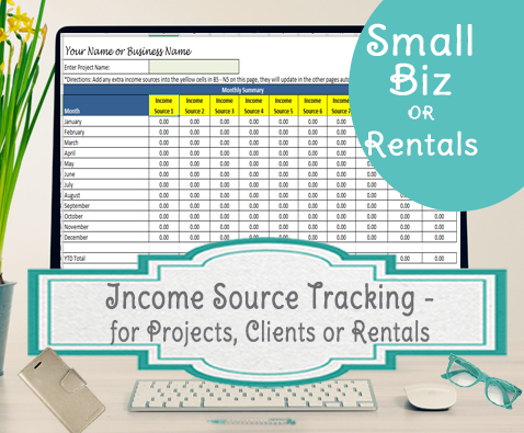 Income source tracking with labels
