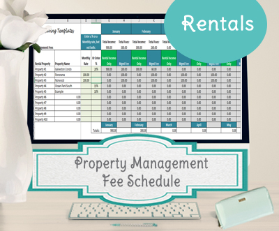 Property management fee schedule