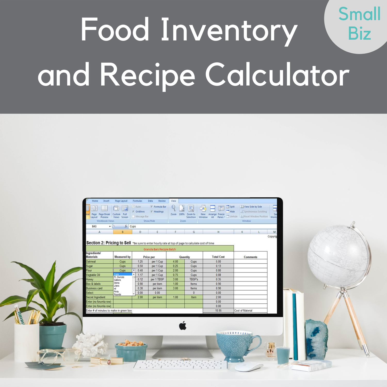 Food Invnetory conversion worksheet 2